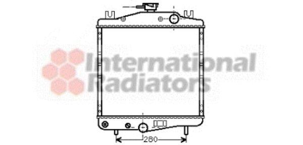 Radiateur, refroidissement du moteur - VAN WEZEL - 07002006