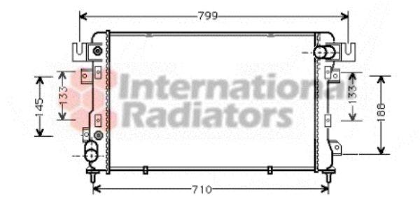 Radiateur, refroidissement du moteur - VAN WEZEL - 07002011