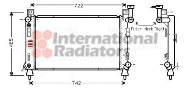 Radiateur, refroidissement du moteur - VAN WEZEL - 07002027