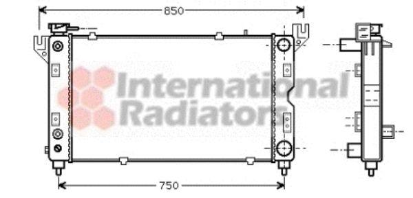 Radiateur, refroidissement du moteur - VAN WEZEL - 07002028