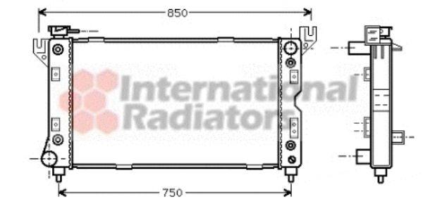 Radiateur, refroidissement du moteur - VAN WEZEL - 07002029