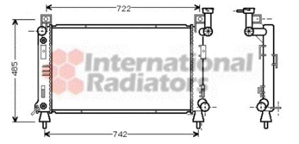Radiateur, refroidissement du moteur - VAN WEZEL - 07002030