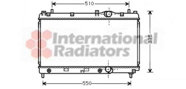 Radiateur, refroidissement du moteur - VAN WEZEL - 07002031