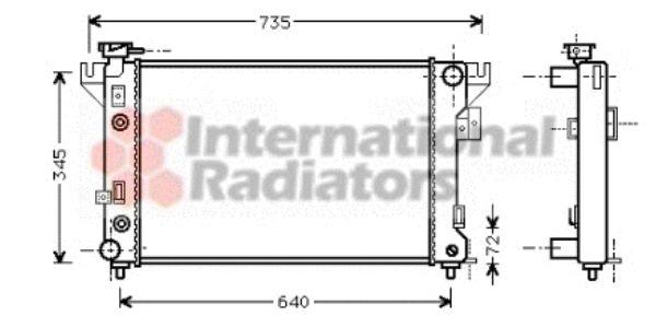 Radiateur, refroidissement du moteur - VAN WEZEL - 07002032