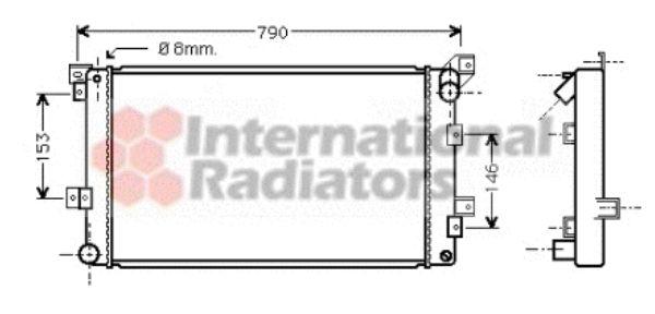 Radiateur, refroidissement du moteur - VAN WEZEL - 07002033