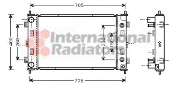 Radiateur, refroidissement du moteur - VAN WEZEL - 07002034