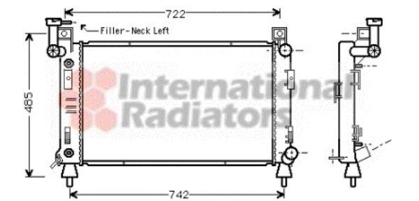 Radiateur, refroidissement du moteur - VAN WEZEL - 07002050