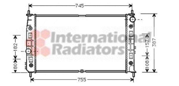 Radiateur, refroidissement du moteur - VAN WEZEL - 07002054