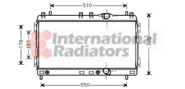 Radiateur, refroidissement du moteur - VAN WEZEL - 07002055