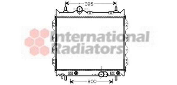 Radiateur, refroidissement du moteur - VAN WEZEL - 07002072