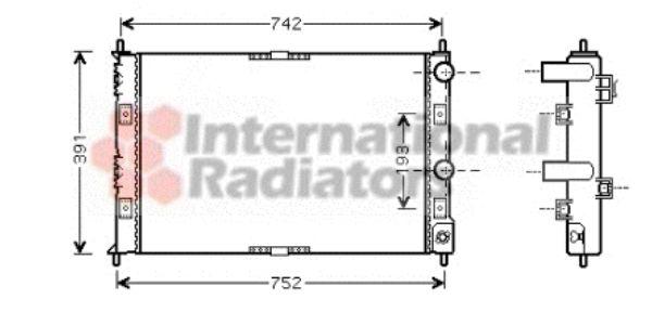 Radiateur, refroidissement du moteur - VAN WEZEL - 07002076