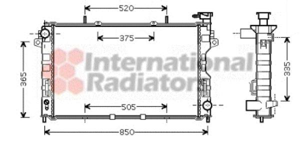 Radiateur, refroidissement du moteur - VWA - 88VWA07002077