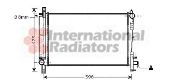 Radiateur, refroidissement du moteur - VAN WEZEL - 07002080