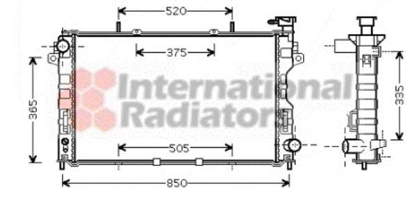 Radiateur, refroidissement du moteur - VAN WEZEL - 07002081