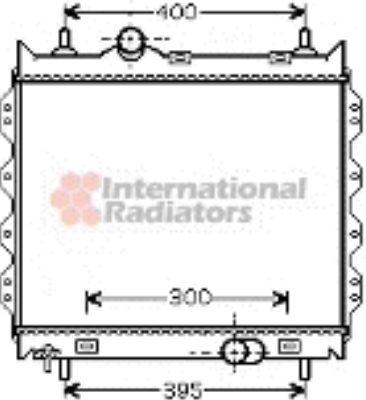 Radiateur, refroidissement du moteur - VAN WEZEL - 07002083