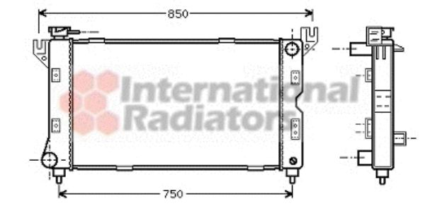 Radiateur, refroidissement du moteur - VAN WEZEL - 07002085