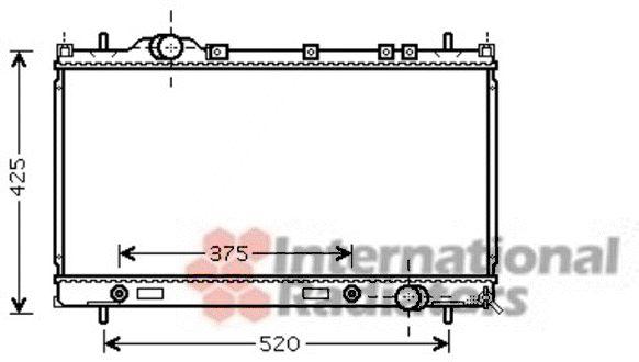 Radiateur, refroidissement du moteur - VAN WEZEL - 07002086