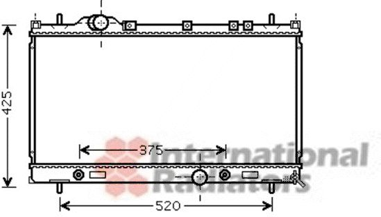 Radiateur, refroidissement du moteur - VWA - 88VWA07002087