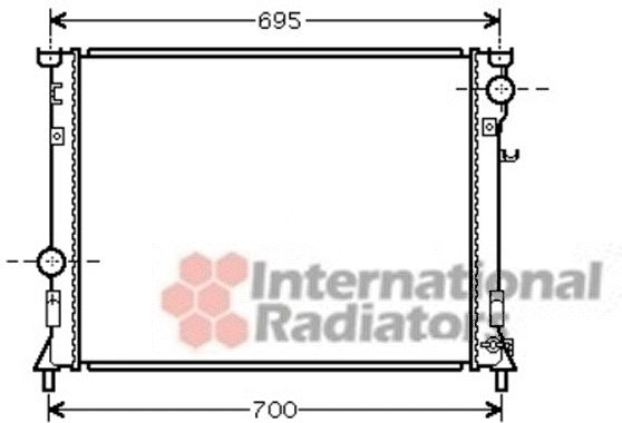 Radiateur, refroidissement du moteur - VWA - 88VWA07002097