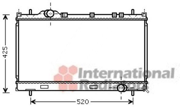 Radiateur, refroidissement du moteur - VAN WEZEL - 07002101