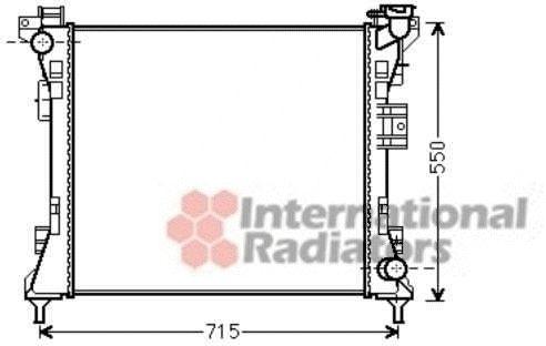 Radiateur, refroidissement du moteur - VAN WEZEL - 07002104