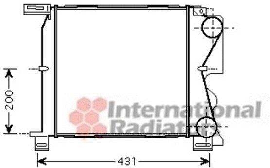 Intercooler, échangeur - VAN WEZEL - 07004096