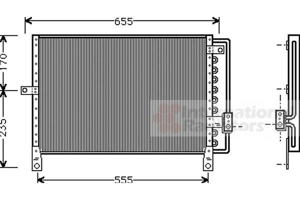 Condenseur, climatisation - VAN WEZEL - 07005014