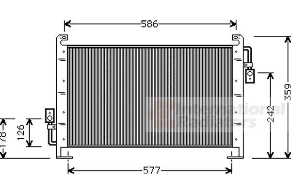 Condenseur, climatisation - VAN WEZEL - 07005015