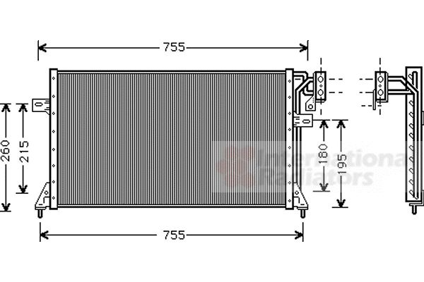 Condenseur, climatisation - VAN WEZEL - 07005018