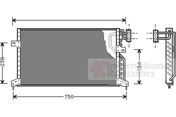 Condenseur, climatisation - VAN WEZEL - 07005020