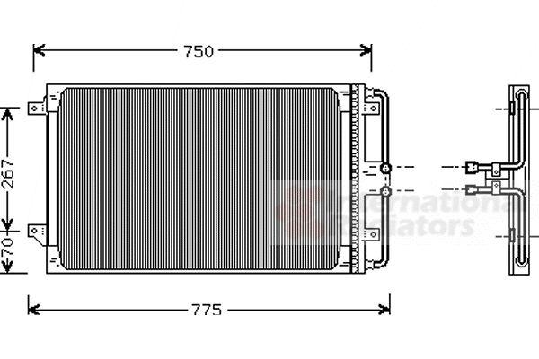 Condenseur, climatisation - VWA - 88VWA07005021