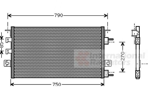 Condenseur, climatisation - VAN WEZEL - 07005023
