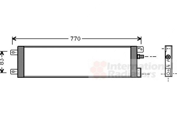 Condenseur, climatisation - VAN WEZEL - 07005025