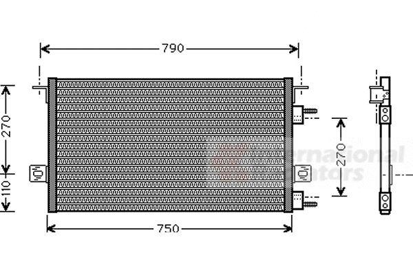Condenseur, climatisation - VAN WEZEL - 07005037
