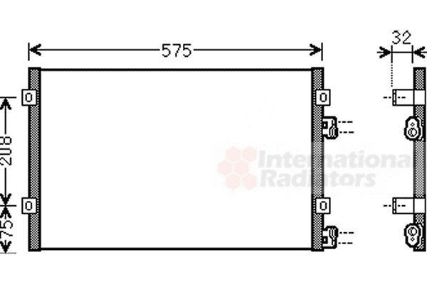 Condenseur, climatisation - VAN WEZEL - 07005071