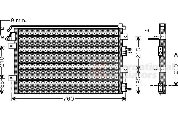Condenseur, climatisation - VAN WEZEL - 07005078