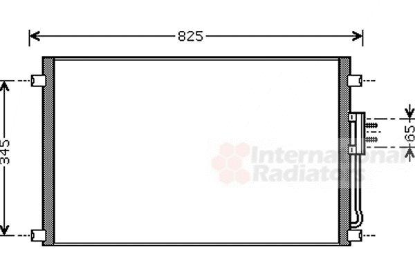 Condenseur, climatisation - VAN WEZEL - 07005079