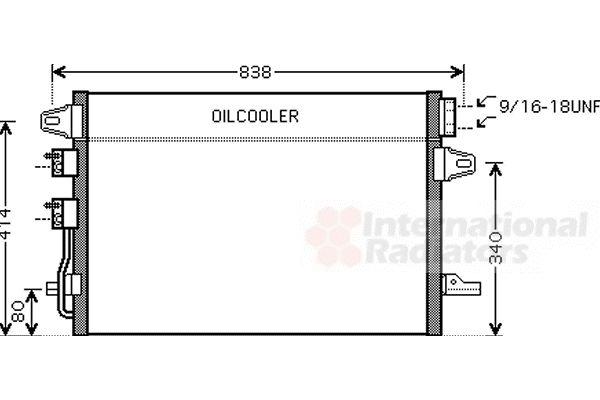 Condenseur, climatisation - VAN WEZEL - 07005088