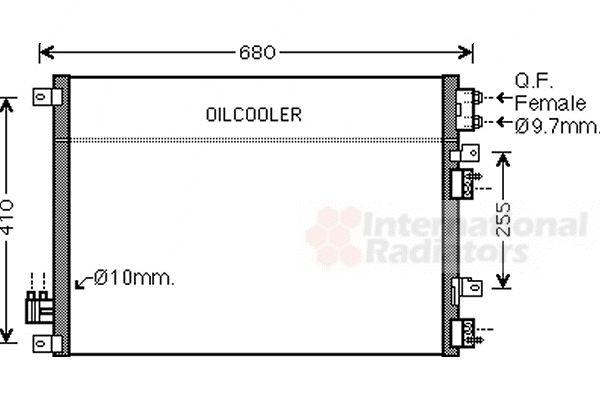 Condenseur, climatisation - VAN WEZEL - 07005093