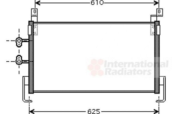 Condenseur, climatisation - VAN WEZEL - 07005095