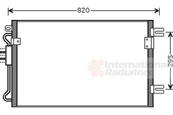 Condenseur, climatisation - VAN WEZEL - 07005098
