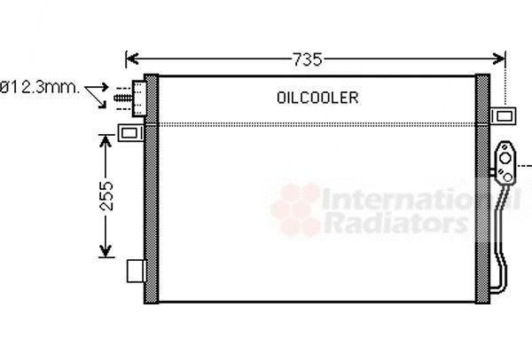 Condenseur, climatisation - VAN WEZEL - 07005100
