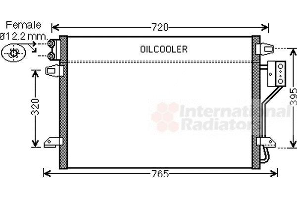 Condenseur, climatisation - VAN WEZEL - 07005106