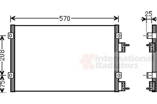 Condenseur, climatisation - VAN WEZEL - 07005110
