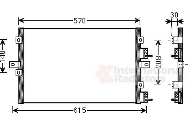 Condenseur, climatisation - VAN WEZEL - 07005114