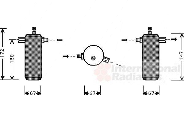 Filtre déshydratant, climatisation - VAN WEZEL - 0700D044