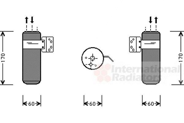 Filtre déshydratant, climatisation - VAN WEZEL - 0700D052
