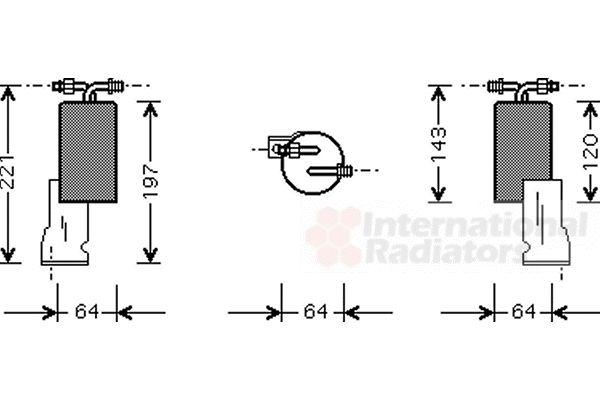 Filtre déshydratant, climatisation - VAN WEZEL - 0700D066
