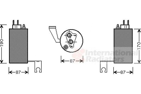 Filtre déshydratant, climatisation - VAN WEZEL - 0700D084