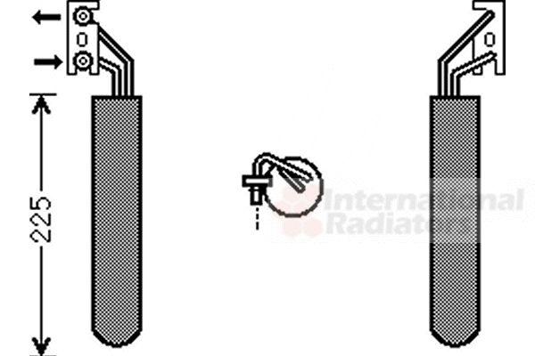 Filtre déshydratant, climatisation - VAN WEZEL - 0700D111